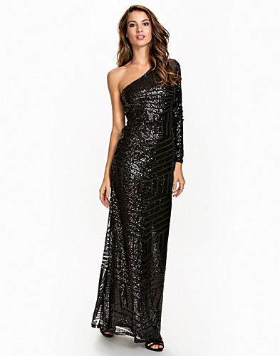 One Sleeve Sequin Dress (2046922401)