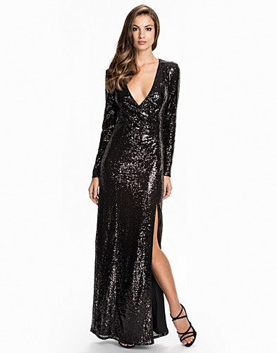 Long Sleeve Sequin Dress (2070494655)