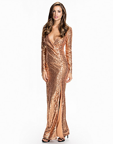 Long Sleeve Sequin Dress (2069807843)