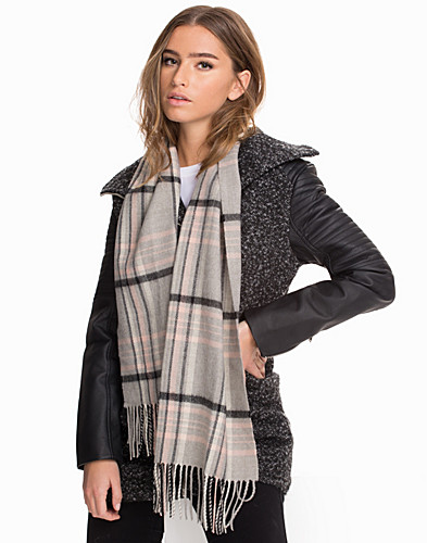 Checked Fringe Scarf (2039950775)