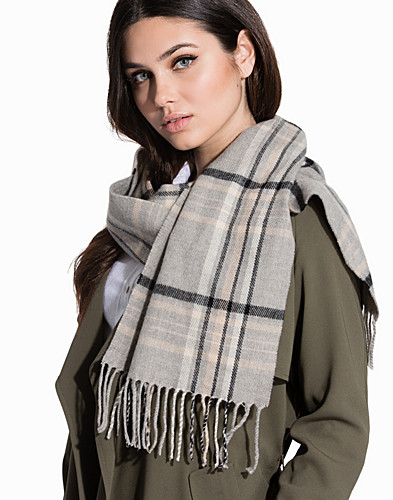 Checked Fringe Scarf (2305405307)