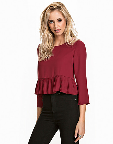 Pleated Hem Blouse (2073670967)