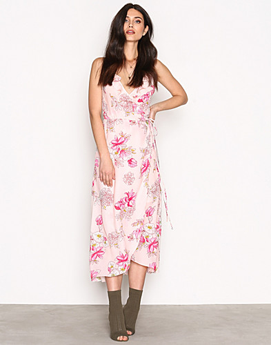 NLY Trend - Frill Wrap Strap Long Dress