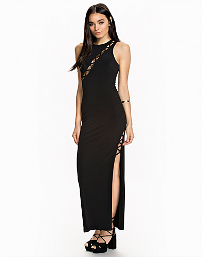 Curved Strap Maxi Dress (2009375753)
