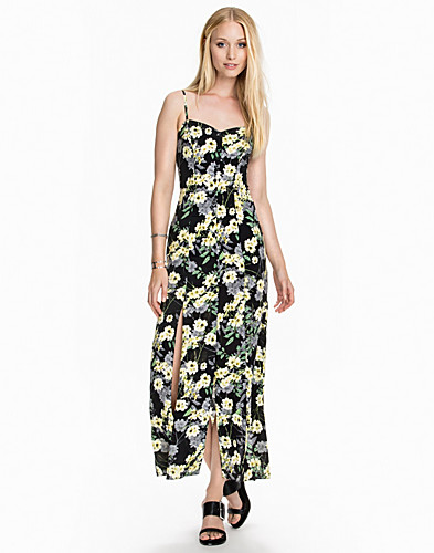 Floral Button Maxi Dress (2009375493)