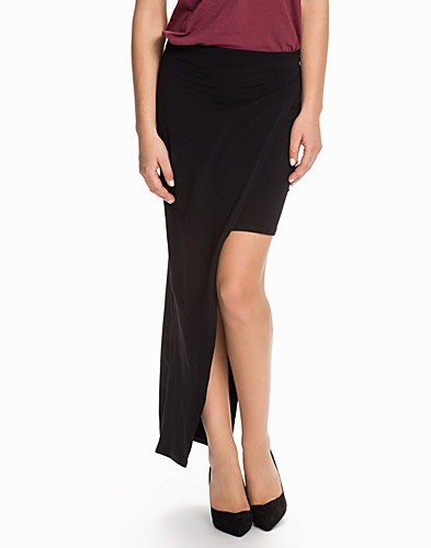 Asymmetric Split Maxi Skirt (2029931489)