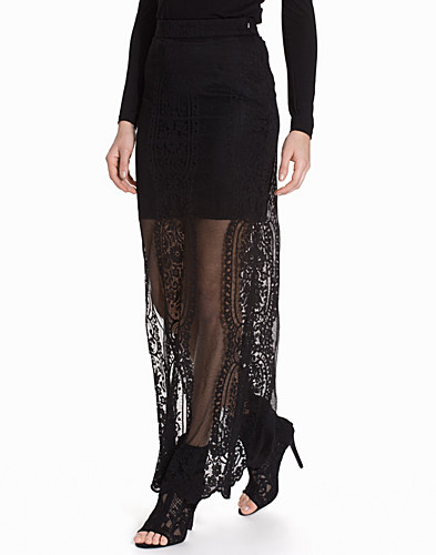 Scallop Lace Maxi Skirt (2096494785)