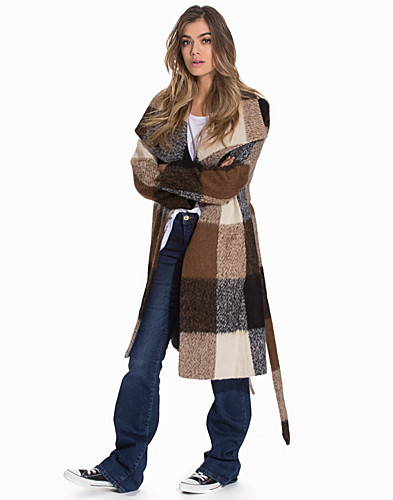 Check Wrap Coat (2092444803)