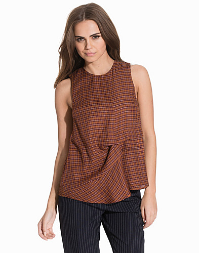 Checked Sleeveless Hitch Top (2134098509)