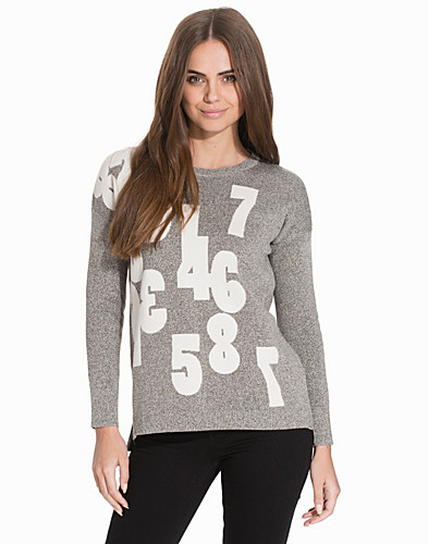 Numbers Knitted Sweatshirt (2127940331)