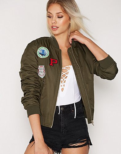 Badged MA1 Bomber Jacket (2273635403)