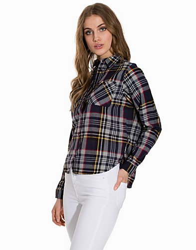 Cropped Checked Shirt (2150808003)