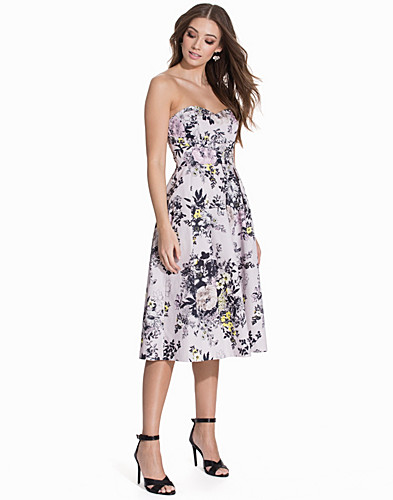 Floral Bandeau Prom Dress (2140335067)