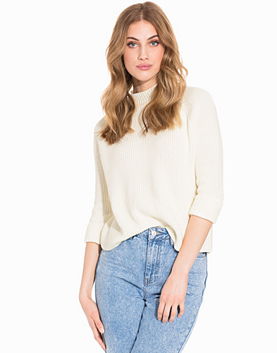 Boxy Turnback Cuff Knit Top (2172645777)