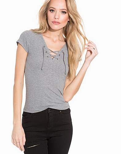 Lace Up Shortsleeve Top (2197291689)