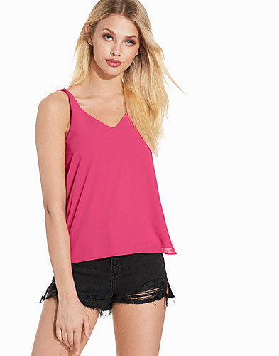 Double Strap V Front Cami Top (2212327241)
