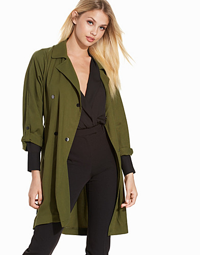 Textured Tencel Truster Coat (2215365889)