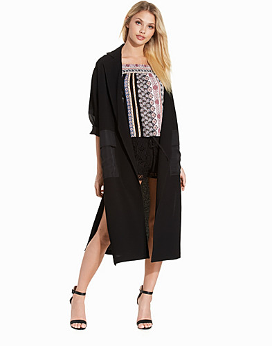 Contrast Panel Duster Coat (2215365893)