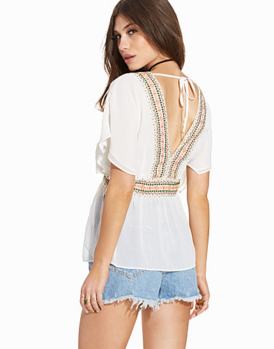 V Neck Embroidered Tunic (2220708849)