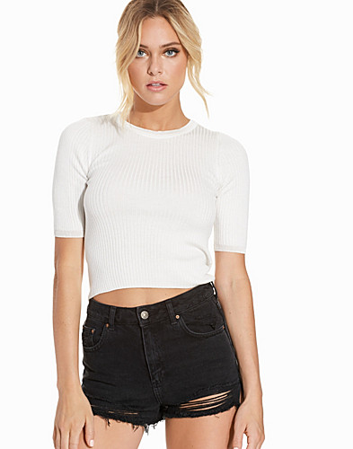 Contrast Trim Crop Top (2226272389)