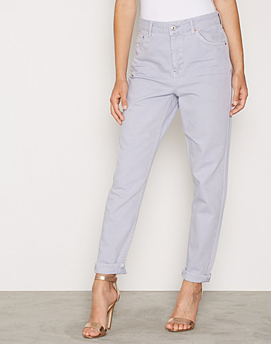 Moto Lilac Coloured Mom Jeans (2273635421)