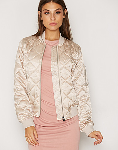 Quilted Shiny Bomber Jacket (2306191649)