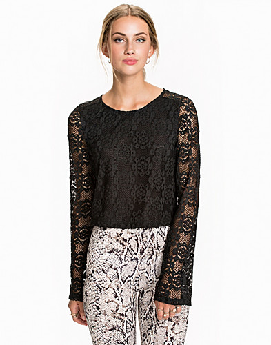 Bell Sleeve Lace Top (2008709401)