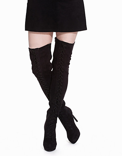 Lace up Thigh High Boot (2113603617)