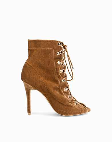 Velvet Lace Up Bootie (2287656031)