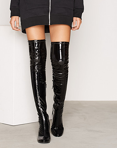 Patent Thigh High Boot (2297490751)