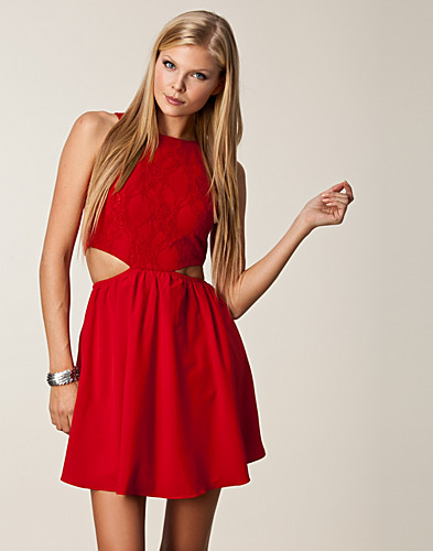 Lace Open Bow Back Dress