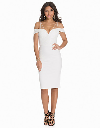 Off The Shoulder Lace Midi Dress (2148390589)