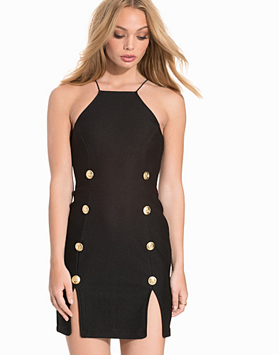 High Neck Military Mini Bodycon (2226272417)