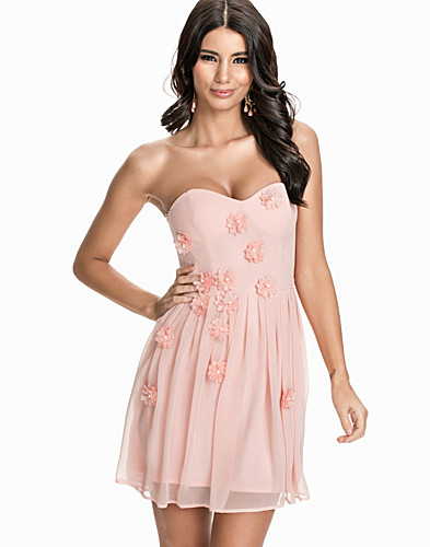 Flower Embellished Bandeau Dress (1845005697)