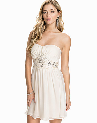 Diamonte Waist Bandeau Chiffon Dress (1886514733)