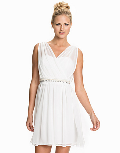 Chiffon Cross Front Trim Dress (1963189287)