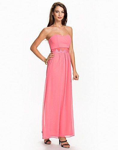 Lace Trim Bandeau Maxi Dress (2008708989)