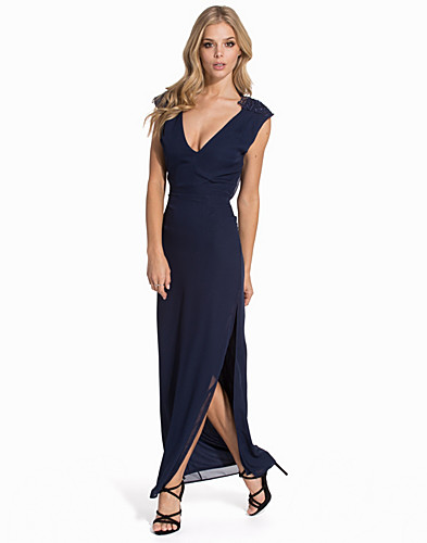 Lace Shoulder Maxi Dress (2055347849)