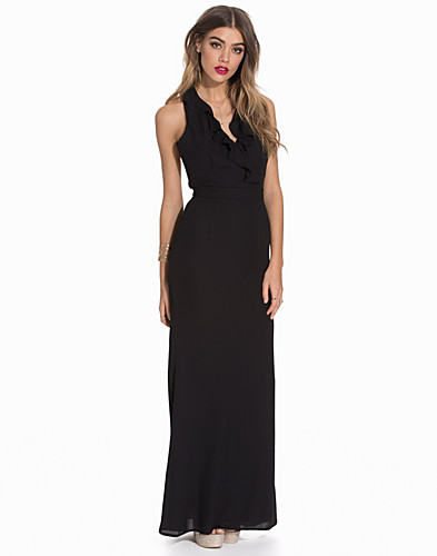 Maxi Frill Front Strappy Back Dress (2089918903)