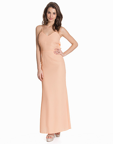 Maxi Drape Back Sequin Lace Insert Dress (2109060979)