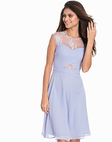 Cross Front Lace Trim Dress (2174488429)