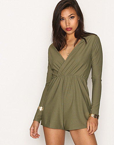 Missguided - Crepe Wrap Playsuit