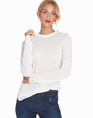 Crepe Button Jersey Top (2274537117)