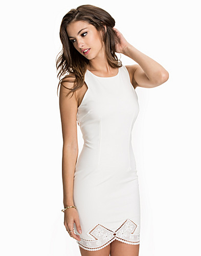 Crochet Hem Midi Bodycon Dress (1961737229)
