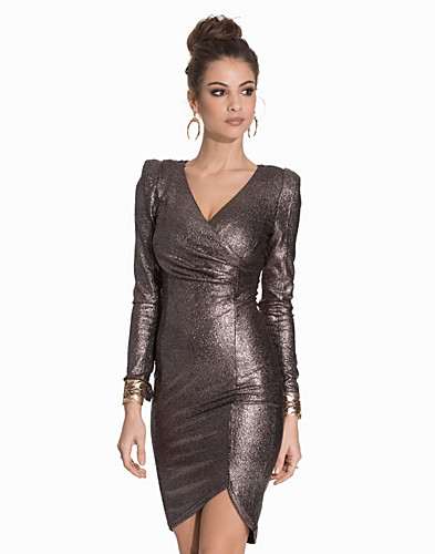 Wrap Metallic Dress