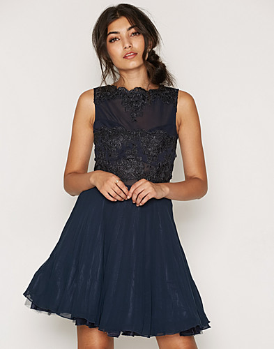 Sleeveless Lace Skater Dress (2169823855)