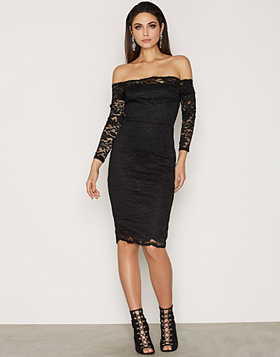 Nelly.com SE - Lace Bardot Midi Dress 250.00 (479.00)