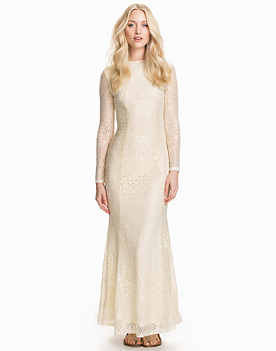 LS Open Back Lace Maxi Dress (1835193433)