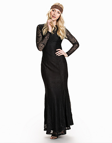 LS Open Back Lace Maxi Dress (1835193185)