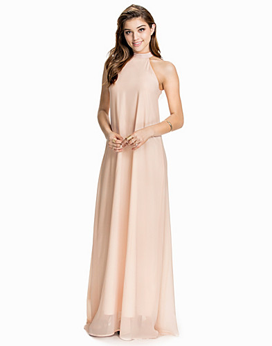 High Neck Chiffon Maxi Dress (1928428367)